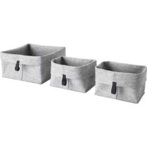 РАГГИСАР Набор корзин 3 штуки серый - Артикул: 503.642.05