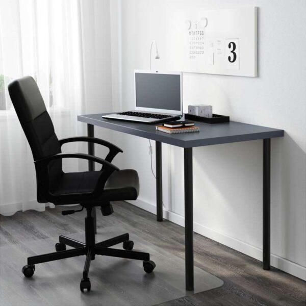 ЛИННМОН / АДИЛЬС Стол геометрический синий/черный 120x60 см - Артикул: 492.468.02