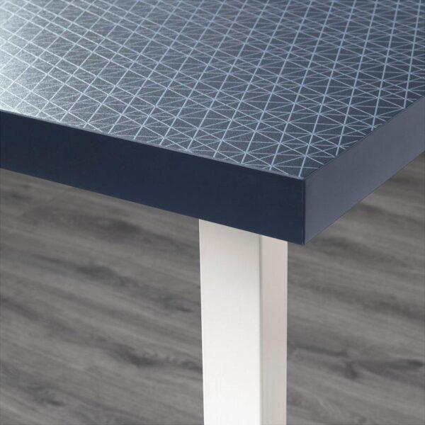 ЛИННМОН / ГОДВИН Стол геометрический синий/белый 120x60 см - Артикул: 392.792.56