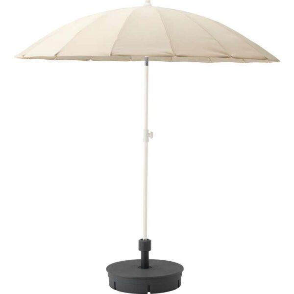 САМСО Зонт от солнца с опорой бежевый/Гритэ темно-серый 200 см - Артикул: 892.290.04