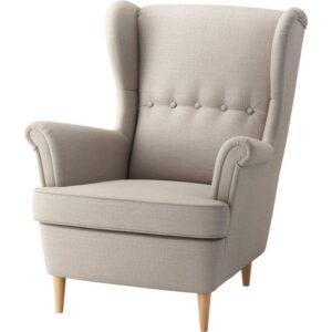 СТРАНДМОН Кресло с подголовником Шифтебу бежевый - Артикул: 704.198.86