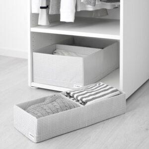 СТУК Ящик с отделениями белый/серый 20x51x10 см | Артикул: 103.644.86