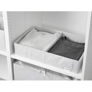 СТУК Ящик с отделениями белый/серый 34x51x10 см - Артикул: 003.642.36