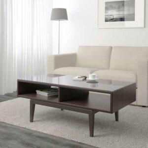 РЕЖИССЁР Журнальный стол коричневый/стекло 118x60 см - Артикул: 703.600.51