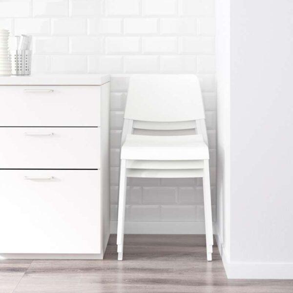 ВАНГСТА / ТЕОДОРЕС Стол и 2 стула белый/белый 80/120 см - Артикул: 792.291.65