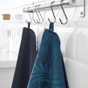 ВИЛДКАПРИФОЛ Полотенце кухонное синий лист 50x70 см - Артикул: 304.142.54