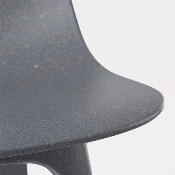 ЭКЕДАЛЕН / ОДГЕР Стол и 4 стула темно-коричневый/синий 120/180 см - Артикул: 492.213.02