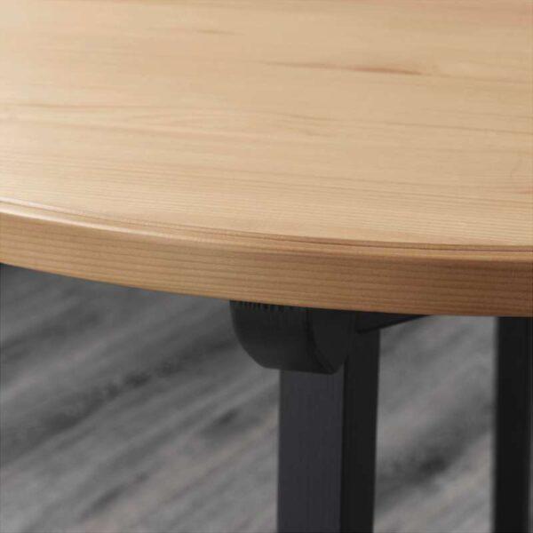 ГАМЛАРЕД Стол светлая морилка антик/черная морилка 85 см - Артикул: 803.823.59