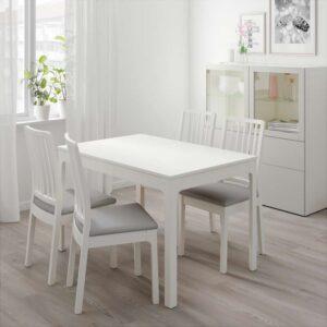 ЭКЕДАЛЕН Раздвижной стол белый 120/180x80 см - Артикул: 903.578.25