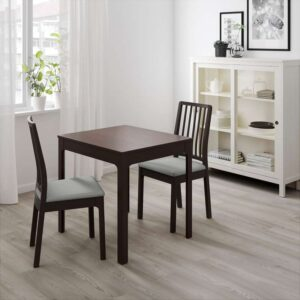 ЭКЕДАЛЕН Раздвижной стол темно-коричневый 80/120x70 см - Артикул: 303.578.33