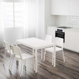 ВАНГСТА Раздвижной стол белый 120/180x75 см - Артикул: 503.615.65