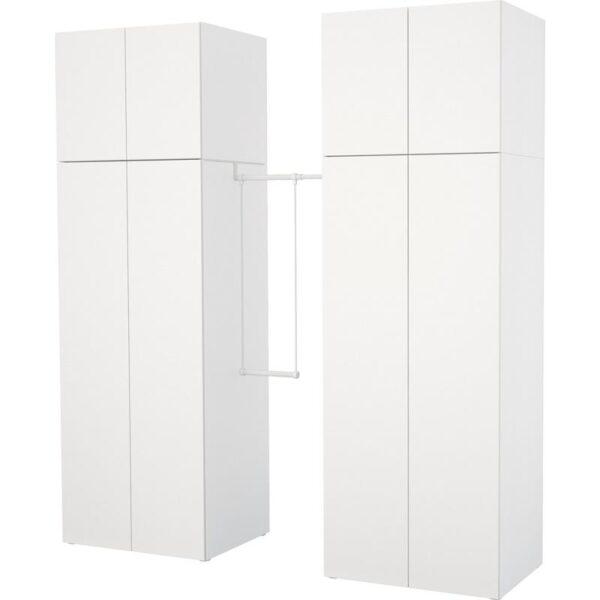ОПХУС Гардероб белый/Фоннес белый 195-220x57x241 см | Артикул: 792.401.44