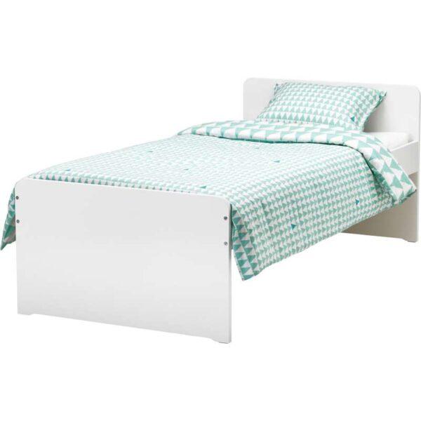 СЛЭКТ Каркас кровати с реечным дном, белый 90x200 см. Артикул: 192.277.58