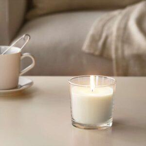 СИНЛИГ Ароматическая свеча в стакане Сладкая ваниль/естественный 9 см - Артикул: 603.500.81