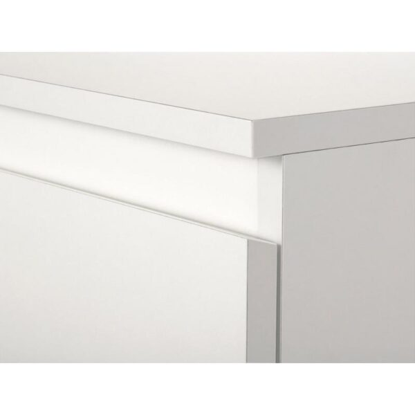 СКОНЕВИК Комод с 5 ящиками белый 70x112 см - Артикул: 603.277.69