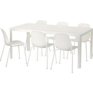 ТИНГБИ / ЛЕЙФ-АРНЕ Стол и 6 стульев, белый, белый - 180 см > Артикул: 792.211.93