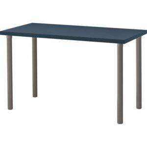 ЛИННМОН / АЛЬВАРЭТ Стол геометрический/синий серый 120x60 см - Артикул: 092.224.93