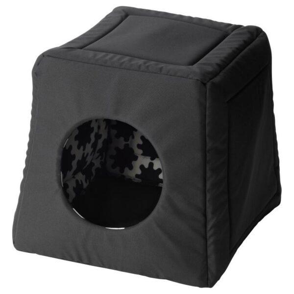 ЛУРВИГ Кроватка/домик д/кошки, черный 38x38x37 см - Артикул: 104.455.86
