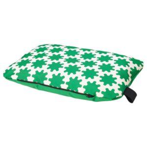 ЛУРВИГ Подушка, зеленый/белый 30x48 см - Артикул: 704.456.54