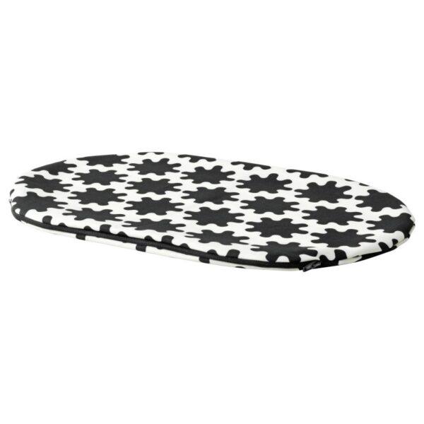 ЛУРВИГ Чехол д/лежанки домашнего питомца, черный/белый 35x52 см - Артикул: 404.460.18