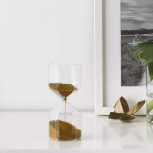 ТИЛЛСЮН Декоративные песочные часы прозрачное стекло 16 см - Артикул: 603.500.00