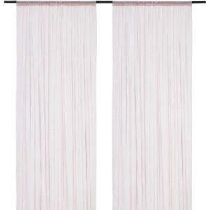 ХИЛЬДРАН Гардины, 2 шт. розовый/точечный 145x300 см - Артикул: 103.916.54