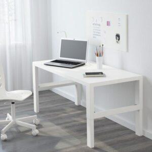 ПОЛЬ Письменный стол белый 128x58 см - Артикул: 292.784.22