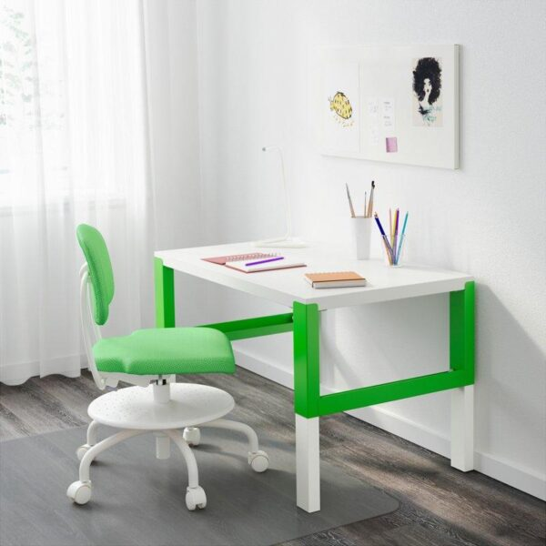 ПОЛЬ Письменный стол белый/зеленый 96x58 см - Артикул: 792.784.10