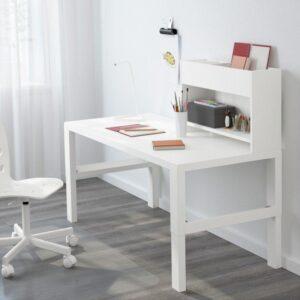 ПОЛЬ Стол с дополнительным модулем белый 128x58 см - Артикул: 892.784.24