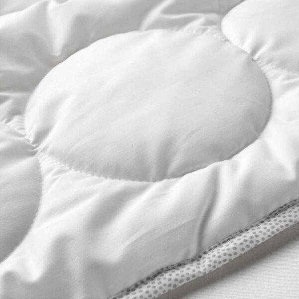 ЛЕНАСТ Одеяло в детскую кроватку белый/серый 110x125 см - Артикул: 203.734.14