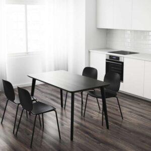 ЛИСАБО Стол черный 140x78 см - Артикул: 503.824.50