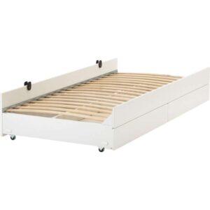 СЛЭКТ Выдвижная кровать с ящиком, белый 90x200 см. Артикул: 592.394.53