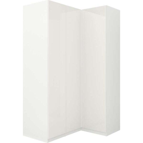 ПАКС Гардероб угловой белый/Фардаль глянцевый/белый 160/111x236 см - Артикул: 292.179.66