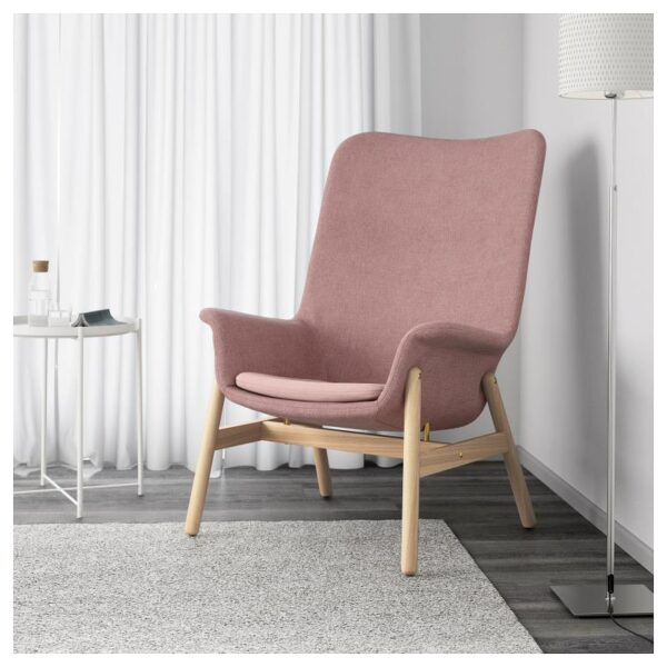 ВЕДБУ Кресло c высокой спинкой, Гуннаред светлый коричнево-розовый - Артикул: 304.235.93