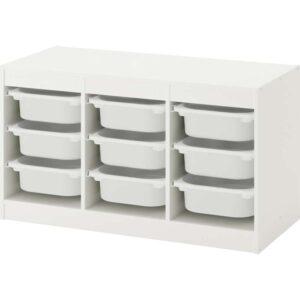 ТРУФАСТ Комбинация д/хранения+контейнерами белый/белый 99x44x56 см - Артикул: 192.221.95