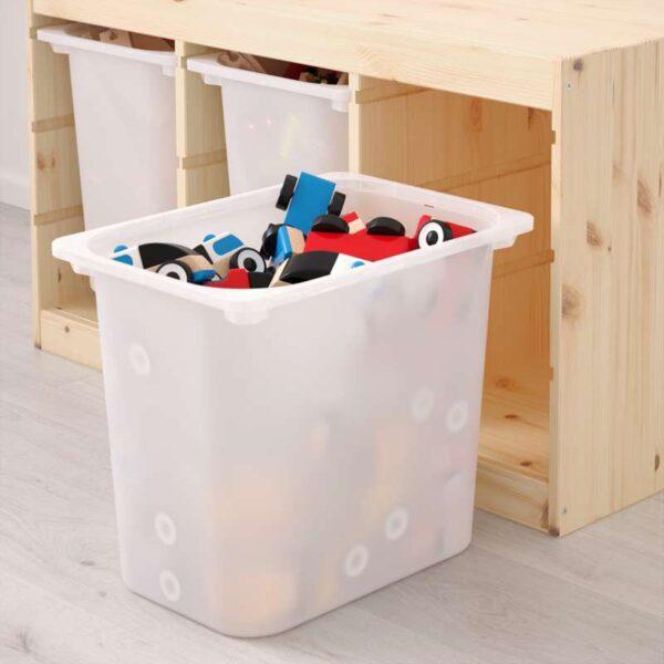 ТРУФАСТ Комбинация д/хранения+контейнерами светлая беленая сосна/белый 94x44x52 см - Артикул: 692.223.86