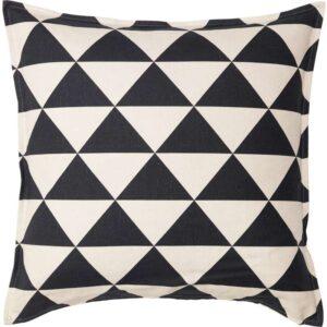 ЙОХАННЕ Чехол на подушку неокрашенный/черный 65x65 см - Артикул: 303.929.40