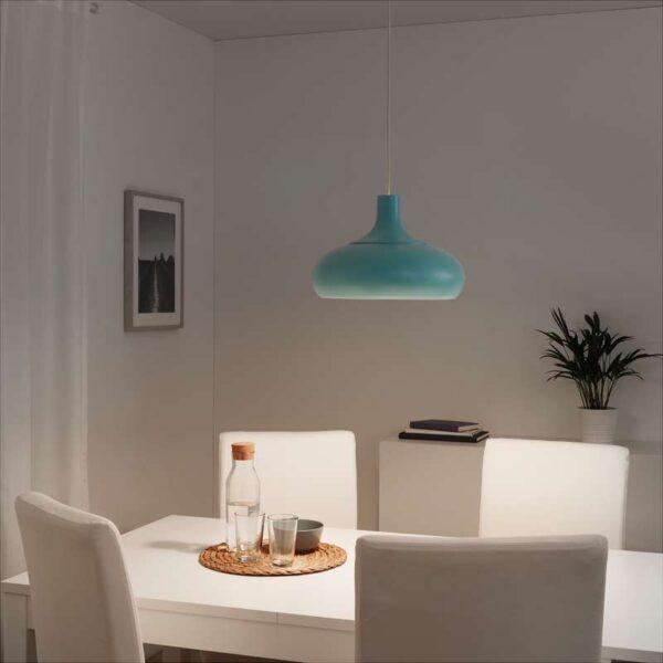 ВЭКШЁ Подвесной светильник синий 38 см - Артикул: 703.631.39