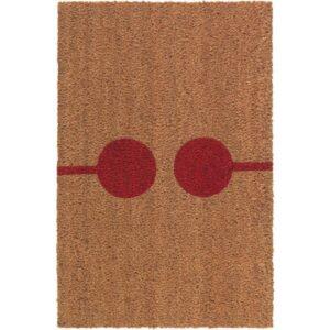 ВЕЙРС Придверный коврик неокрашенный/красный 40x60 см - Артикул: 103.924.46