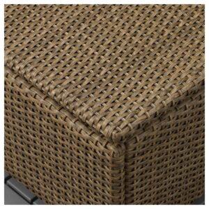 СОЛЛЕРОН Садовый табурет коричневый 62x62 см - Артикул: 003.736.17