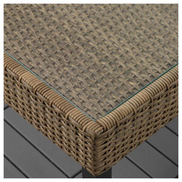 СОЛЛЕРОН Садовый столик, антрацит/коричневый 92x62 см - Артикул: 603.736.19