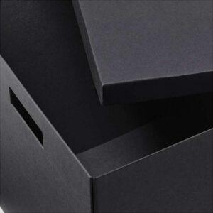 ТЬЕНА Коробка с крышкой черный 35x50x30 см - Артикул: 503.743.51