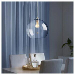 ЯКОБСБЮН Абажур для подвесн светильника, прозрачное стекло - Артикул: 104.376.14