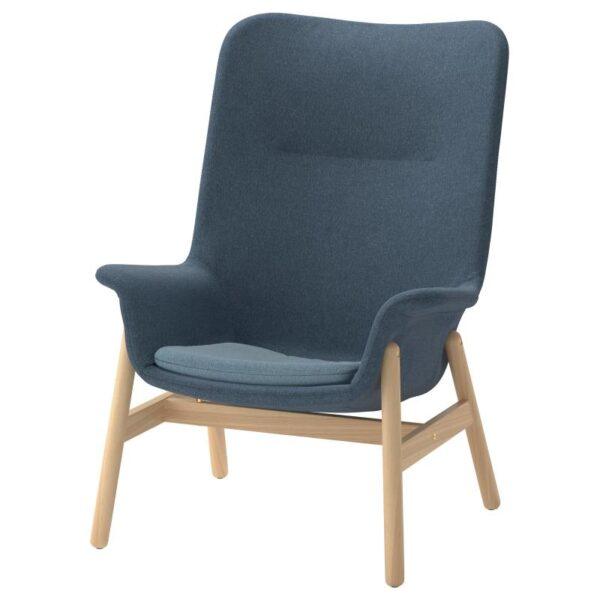 ВЕДБУ Кресло c высокой спинкой, Гуннаред синий - Артикул: 304.235.88