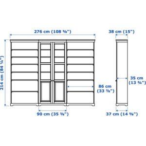 ЛИАТОРП Комбинация д/хранения белый 276x214 см - Артикул: 092.440.46