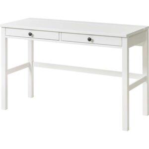 ХЕМНЭС Стол с 2 ящиками белая морилка 120x47 см - Артикул: 403.632.25