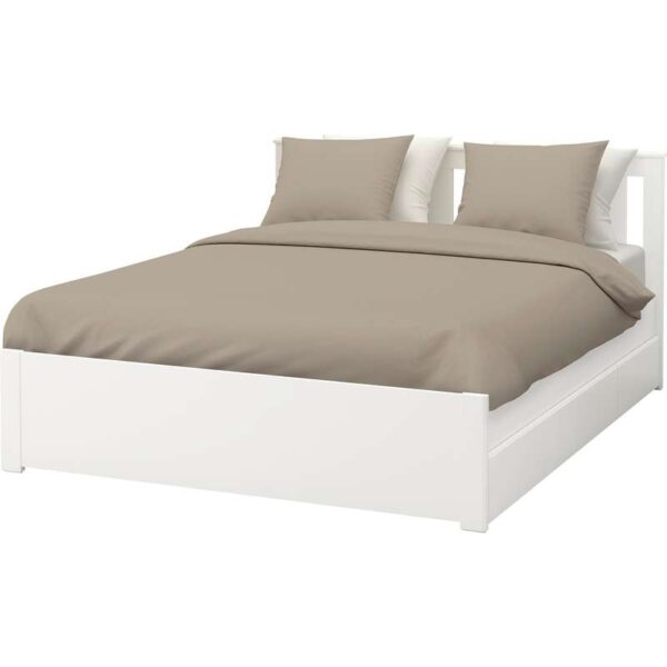 СОНГЕСАНД Каркас кровати с 2 ящиками, белый 140x200 см. Артикул: 792.412.09