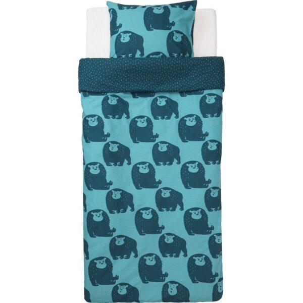 ДЬЮНГЕЛЬСКОГ Пододеяльник и 1 наволочка, обезьянка/синий 150x200/50x70 см. Артикул: 703.937.11