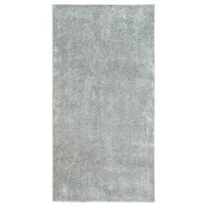 ВОНГЕ Ковер, длинный ворс, светло-серый 78x150 см - Артикул: 304.362.32
