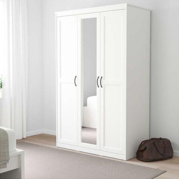 СОНГЕСАНД Шкаф платяной белый 120x60x191 см - Артикул: 903.751.36